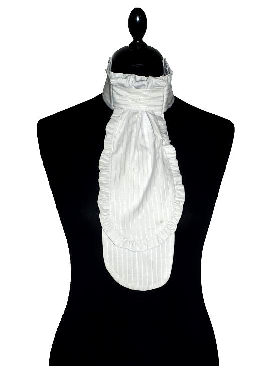 plastron stripe with lace 10