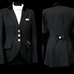Black, back bow