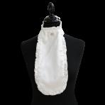 Ru. White silk, 1 big crystal