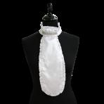 Ru. White silk, 6 rows crystal